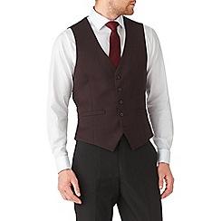 Burton - Wine jacquard waistcoat