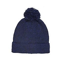 Burton - Navy twist boucle beanie hat