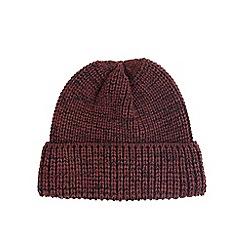 Burton - Red twist beanie hat