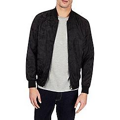 Burton - Black camouflage bomber jacket