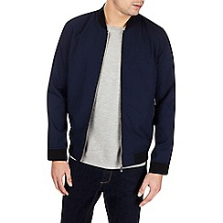 Burton - Blue textured bomber jacket
