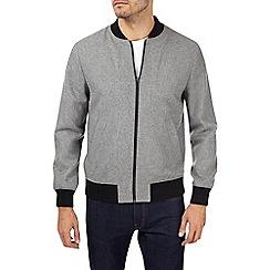 Burton - Grey wool bomber jacket