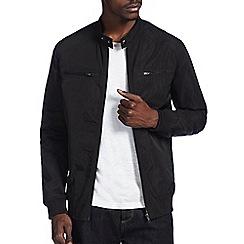 Burton - Black racer bomber jacket