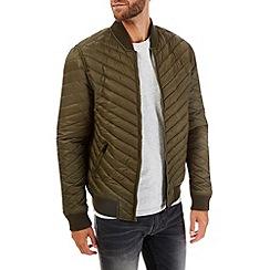 Burton - Khaki quilted bomber jacket