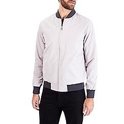 Burton - Grey contrast rib bomber jacket