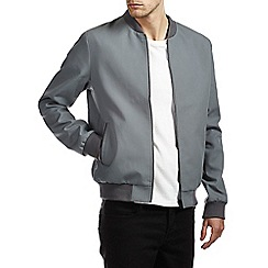 Burton - Smart grey shower resistant bomber jacket