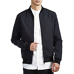 Burton - Smart navy shower resistant bomber jacket