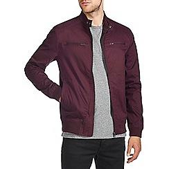 Burton - Burgundy bomber jacket