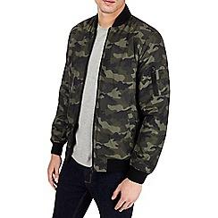 Burton - Khaki camouflage print bomber jacket