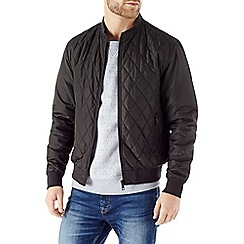 Burton - Quilted black bomber jacket