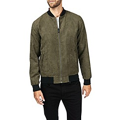 Burton - Khaki suedette bomber jacket