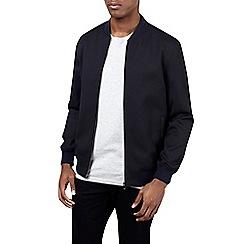 Burton - Navy textured baseball jacket