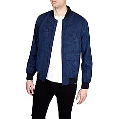 Burton - Blue camouflage bomber jacket