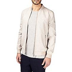 Burton - Montague burton linen bomber jacket