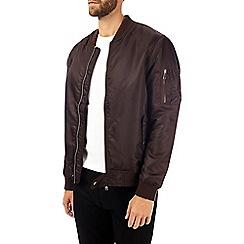 Burton - Burgundy ma1 bomber jacket