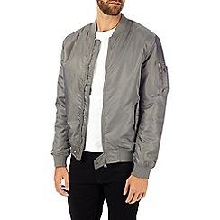 Burton - Grey ma1 bomber jacket