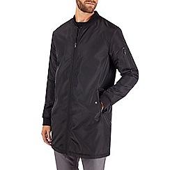 Burton - Black longline bomber jacket