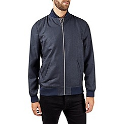 Burton - Blue denim look smart bomber jacket