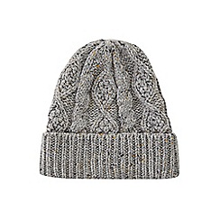 Burton - Grey nep cable beanie hat