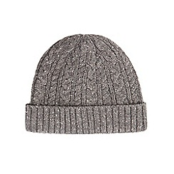 Burton - Grey cable beanie