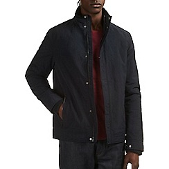 Burton - Navy casual funnel neck jacket