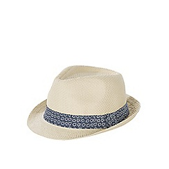 Burton - Plain brown straw trilby