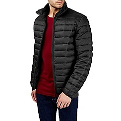 Burton - Black funnel quilted jacket