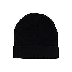 Burton - Black turn up beanie hat