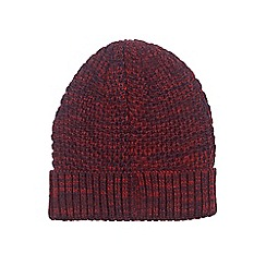 Burton - Burgundy turn up beanie hat
