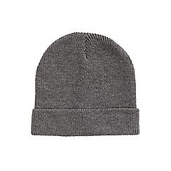 Burton - Charcoal turn up beanie hat