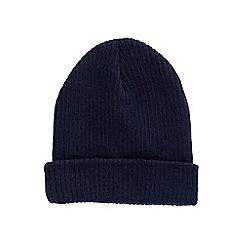 Burton - Navy turn up beanie hat