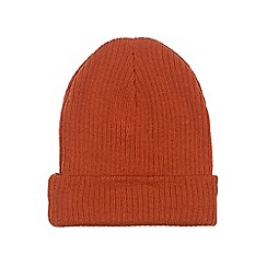 Burton - Orange turn up beanie hat