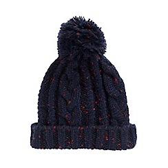 Burton - Navy nep bobble hat