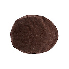 Burton - Brown tweed flat cap