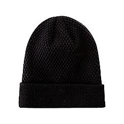 Burton - Black knitted textured beanie