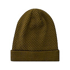Burton - Khaki knitted textured beanie