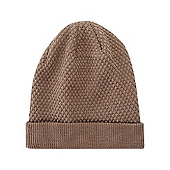 Burton - Natural knitted textured beanie