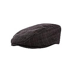 Burton - Grey check flat cap
