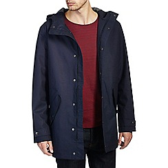 Burton - Navy fisherman hooded jacket