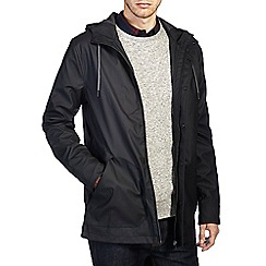 Burton - Black hooded raincoat