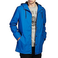Burton - Blue hooded raincoat