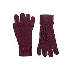 Burton - Burgundy knitted gloves
