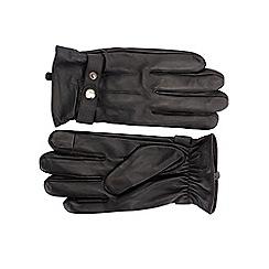 Burton - Black leather gloves