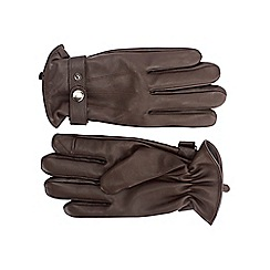 Burton - Brown leather gloves