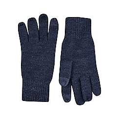 Burton - Navy knitted gloves