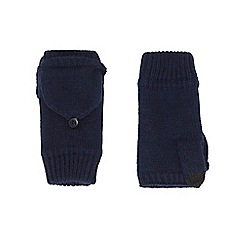 Burton - Navy fingerless mitt gloves