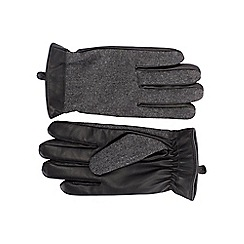 Burton - Grey tweed leather gloves