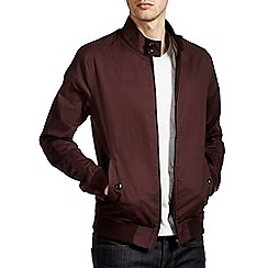 Burton - Burgundy harrington jacket