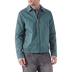 Burton - Teal shirt collar harrington jacket