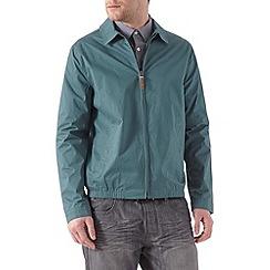 Burton - Teal shirt collar harrington jacket
